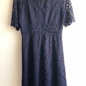 Madewell Dresses - Madewell Short Sleeve Waisted Lace Dress